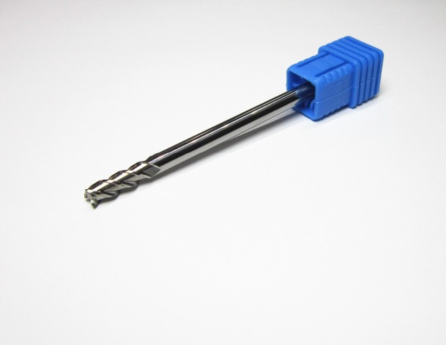 HRC45  4MM long shank 75mm for aluminum tungsten carbide end mill uncoated  milling cutter 3 flutes  CNC machine Lengthen