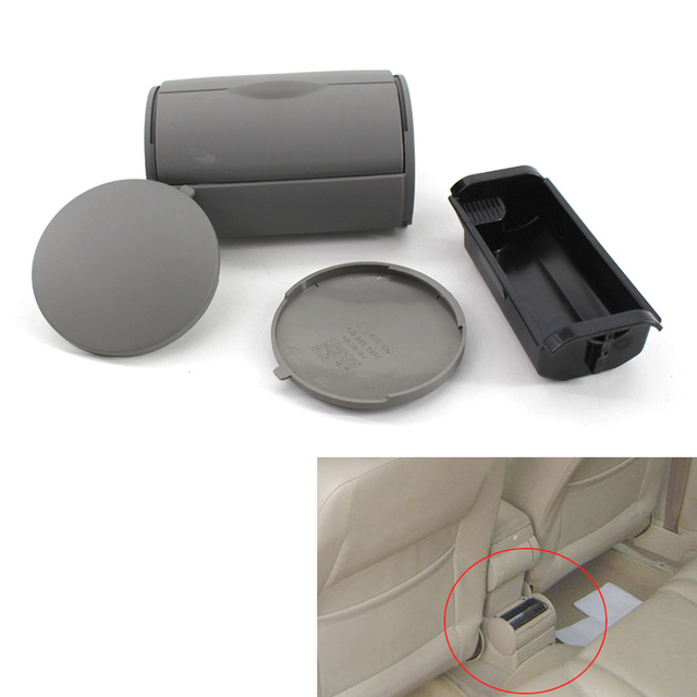 CNWAGNER 1J0857962H Black Gray Rear Ashtray Tray Box Side Cap For VW/JETTA/GOLF/GTI BORA/MK4