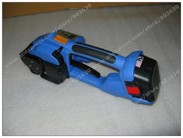 Battery Powered Hand Packaging  tool  With Friction Welding Plastic Strapping Tool for packaging used cloth,pallet,bales,brick