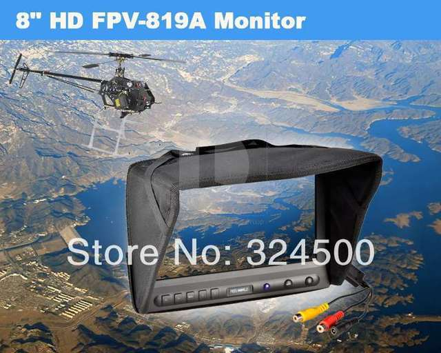 Feelworld 8 inch LCD HD Monitor for FPV Video Camera RC Helicopter Multicopter No Blue Screen OSD Airplane & Radio Control Plane
