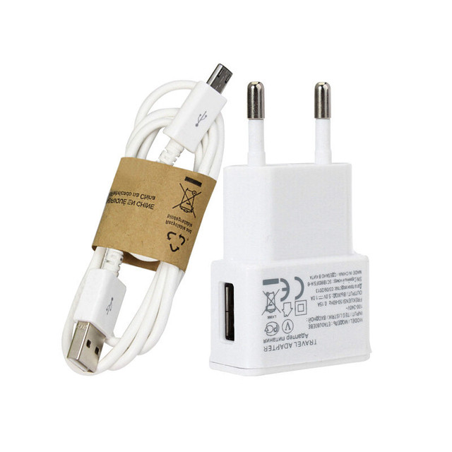 EU plug Wall Charger adapter + Cable Micro USB For Samsung Galaxy s5 s6 S4 I9500 S3 I9300 note 2