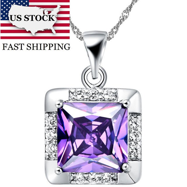 US STOCK 5% Off Brincos Silver Necklaces Pendants Chain Collares Necklace Women Pendant Choker for Best Friends Uloveido N422