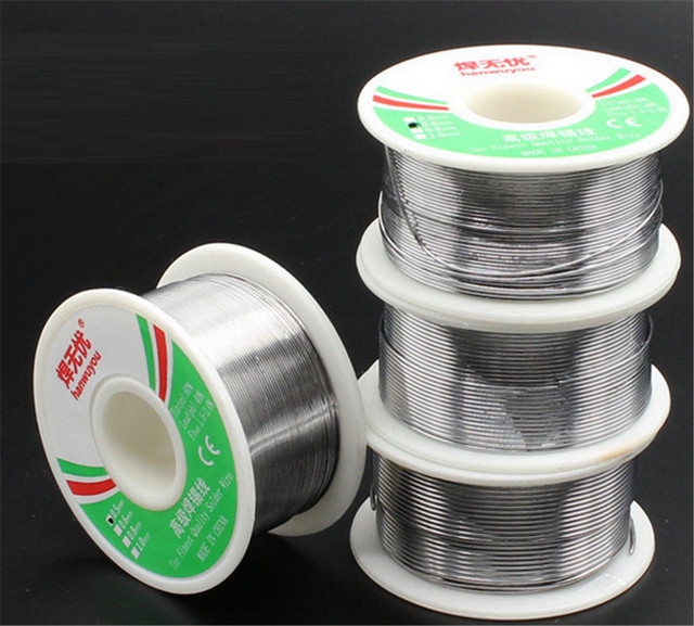 Sale High Quality 0.6mm 100g 60/40 Rosin Core Tin Lead Solder Wire Soldering Welding Flux 2.0% Iron Wire Reel