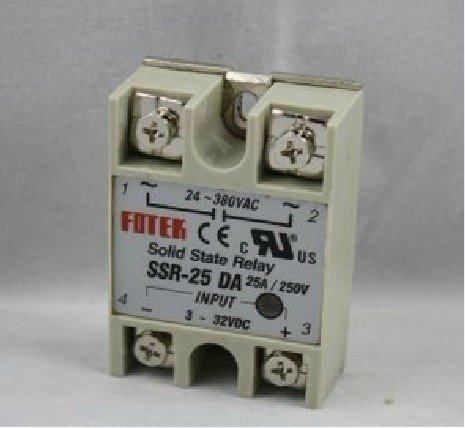 Freeshipping 3pcs/lot SSR-25DA 25A SSR single phase ssr solid state relay