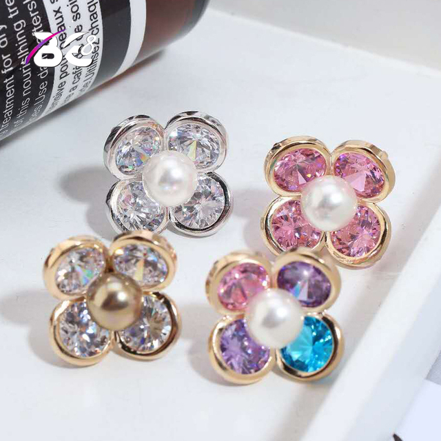 Be 8 Fashion Women Stud Earrings High Quality AAA Cubic Zirconia Stone Flower Design Stud  Earring Pendientes Mujer Moda E751