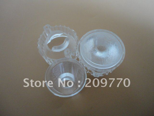Wholesale- LED lens 20MM  ripple  optical lens Contain bracket 1W 3W Reflector Collimator