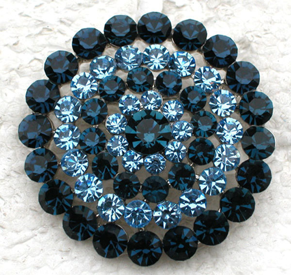 Montana Crystal Rhinestones Bridesmaid Wedding Party prom Brooches Round Flowers Brooch Pin Jewelry C906 L