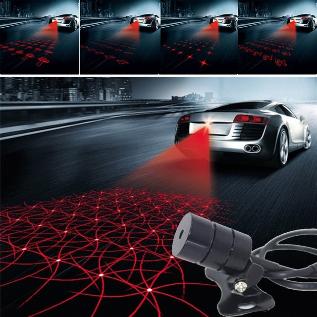 Laser Light Motorcycle Warning Lamp Haze Prevention High Quality Anti Rear End Automobile Safety Red Car Taillight Brake Lamp