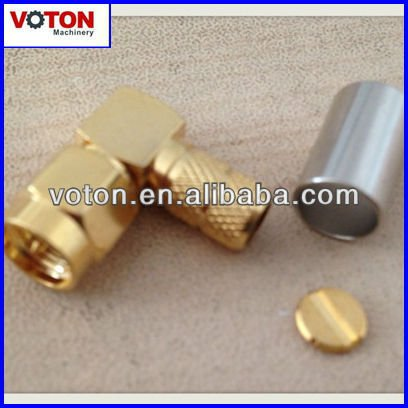 free shipping RF SMA Male(plug) Right Angle crimp with LMR240 cable connector