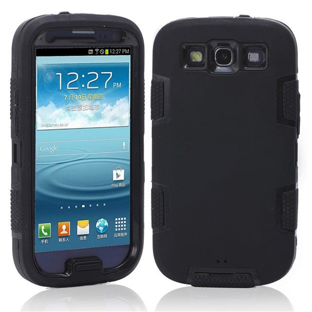 Hybrid Plastic+Silicone Defendered Case Shockproof Cover for Samsung Galaxy S3 Neo S3 Duos I9300i i9300
