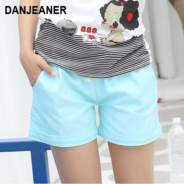 Women Cotton Shorts 2017 Summer Fashion Candy Color Elastic Waist Drawstring Short Pants Woman Casual Plus Size Shorts