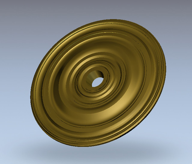 3D Round plate ring Relief Model in STL format for CNC Router Carving Engraving Artcam aspire R108