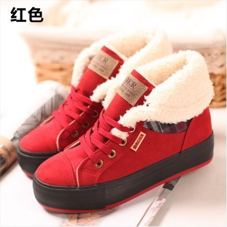 Free shipping 2015 New Arrival Women's Winter Snow Boots Solid Round toe Flat Boots Women Short Motorcycle Boots