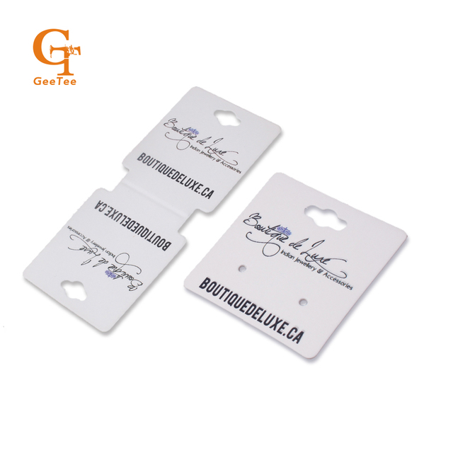 custom customized logo brand name printing earring necklace display cards holder, printed jewelry tags, OEM earring tags