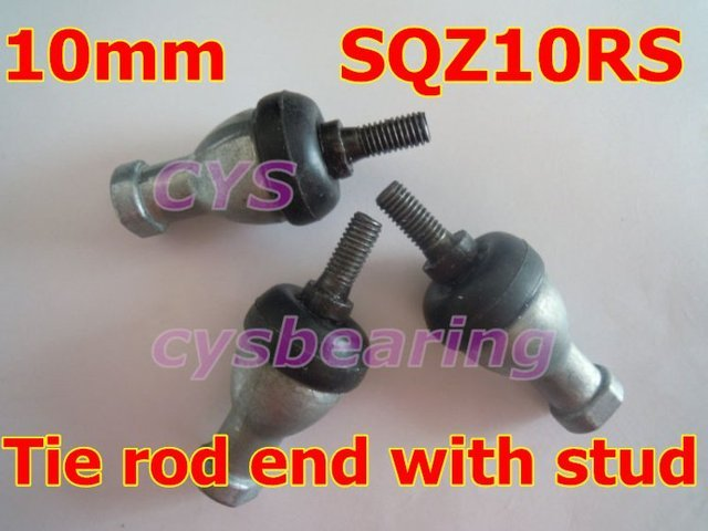 10mm SQZ10RS M10x1.5 spherical plain bearing rod ends with ball stud winding shape tie rod ends with right or left hand thread