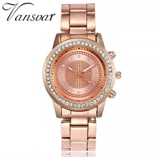 Vansvar Women Fashion Watches Luxury Stainless Steel Strap Quartz Watch Ladies Casual Wristwatches Female Clock Relogio Feminino