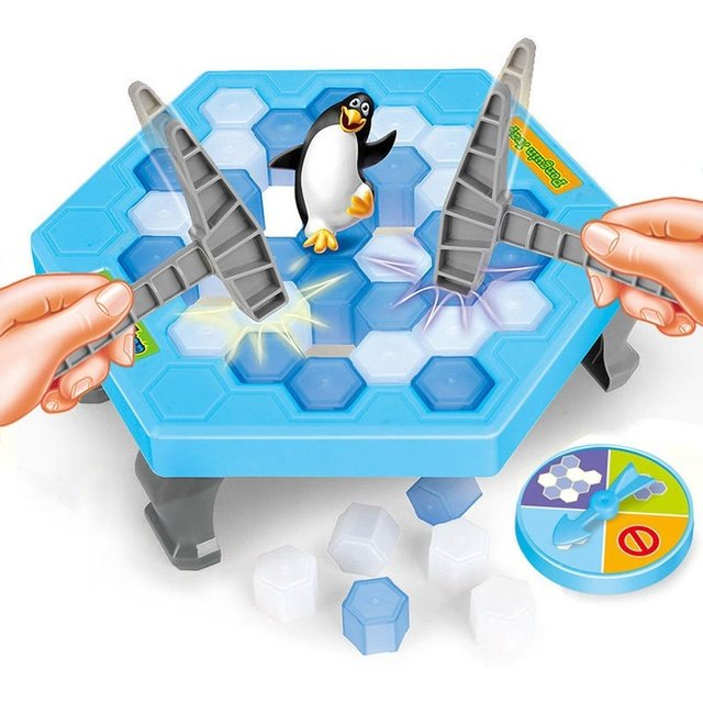 Mini Penguin Trap Activate Funny Game Interactive Ice Breaking Table Penguin Trap Entertainment Toy for Kids Ice Breaker Game