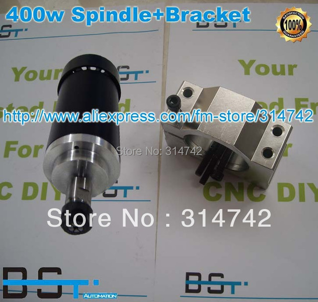 Free shipping for air cooled 400W Spindle Motor 24-52V DC ER11 collect  spindle+ 52mm Mount bracket