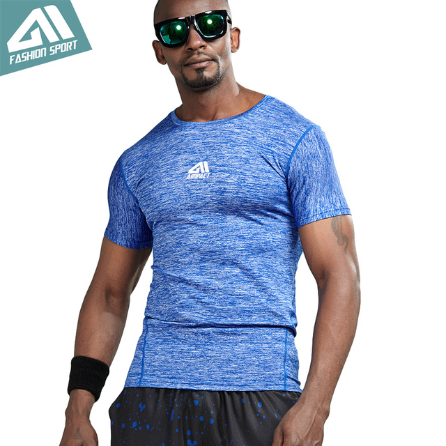 Aimpact Athletic Compression T-shirts Men Bodybuilding Gym Workout Running Sport Training Quick-dry Body Shaper Tights AM1054