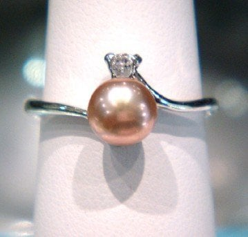 4 COLOR! Charmful Freshwater Pearl Ring Finger Ring with Nice Quality Gorgeous Cool Fashion Jewelry Accessory, 100pcs/lot