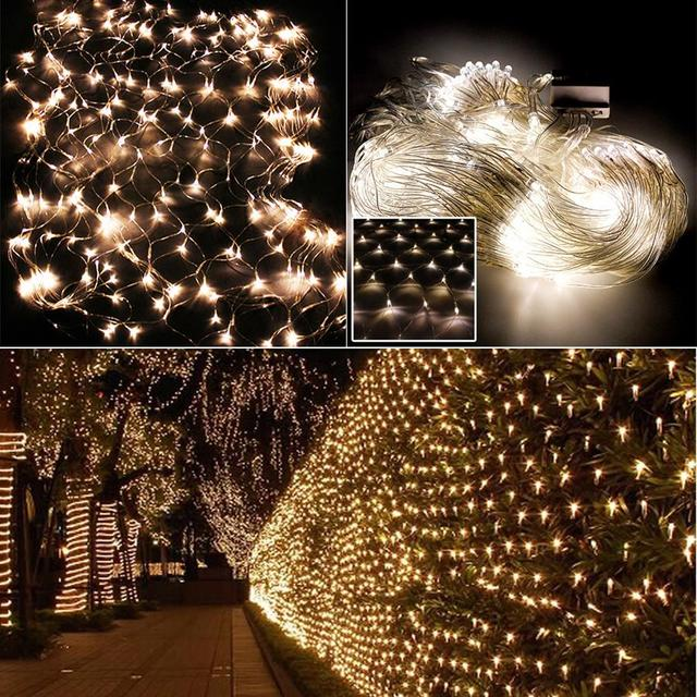 1.5X1.5M LED String Fairy Lights Net Mesh Curtain Party Home Decoration
