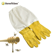 Benefitbee Beekeeper Prevent Gloves Protective Sleeves Ventilated Professional Anti Bee for Apiculture Beekeeper Beehive Yellow