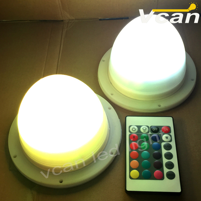 FAST Free Shipping Magic centerpiece lighting rechargeable ltihium battery Remote controlled multi-colors LED base