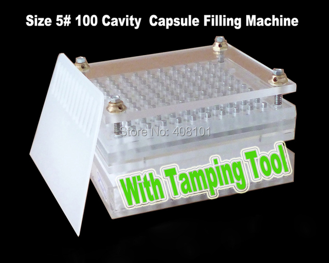 Capsule filling machine,Size 5# 100 cavity manual capsule filler with tamping tool.Can be customized 00# 0# 1# 2# 3# 4# 5#