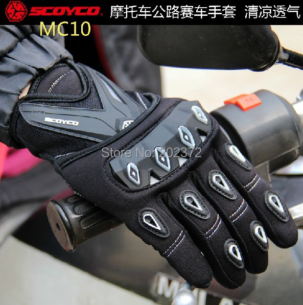 Scoyco 2012 mc10 full finger gloves for motorcycle knight  ride Motorcycle bicycle outdoor sport layout