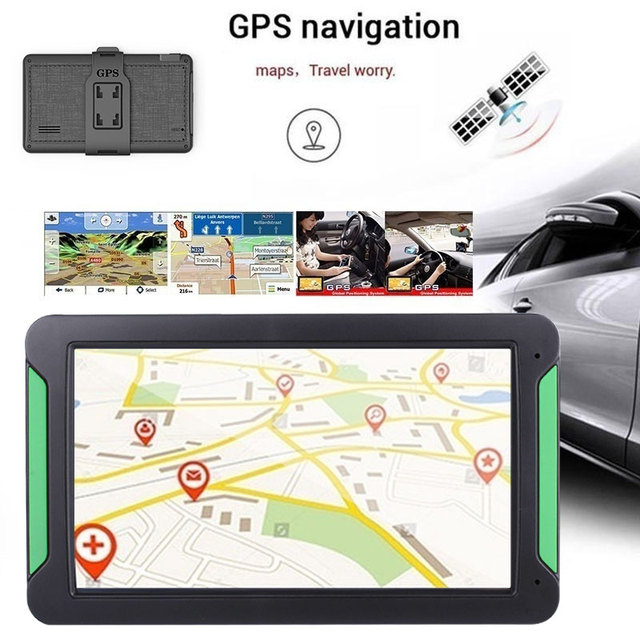 Vehemo 8 Inches Vehicle Navigation Sensors Car Navigator Map GPS Navigator for Universal Photography Electronic Album