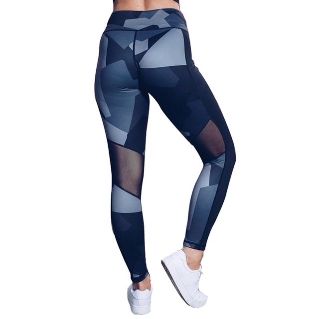 2018 Yoga Pants Women Sexy High Waist Sport Leggings Printed Leggings Sport Fitness Workout Running Pants Sport Tights Trousers