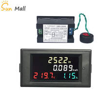 AC Voltage Power Detector+100A AC 200-450V LCD Voltmeter Ammeter Amp Kwh Meter