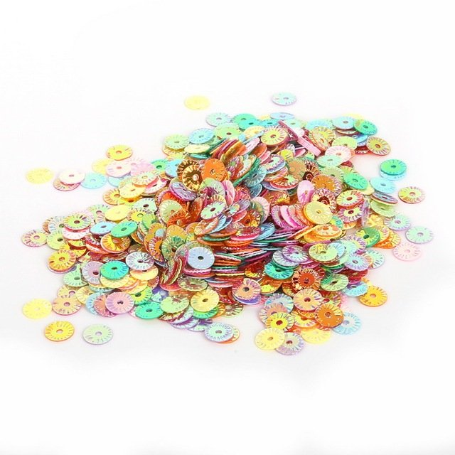 Hot Sale White/Mix Color 4/5/6mm Flat round loose sequin Paillette sewing Wedding craft decoration Scrapbook DIY accessories