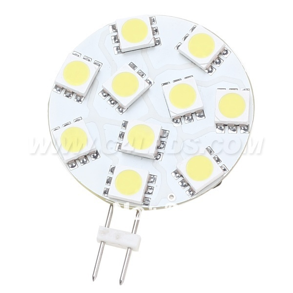 Free Shipment Dimmable G4 LED Super Bright 10 SMD 5050 wide volt AC/DC10-30V 1.8W 200-220LM White Warm White 10pcs/lot