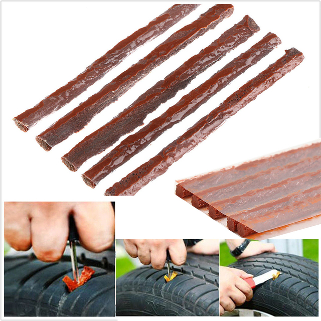 Car Truck Tubeless Tire Strip Plug Tyre Puncture Cold Repair Kit 100x6MM