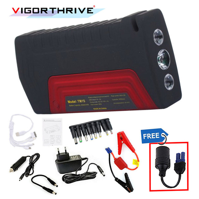 600A Power Bank Mini Emergency 12V Car Jump Starter Car Charger For Car Battery Booster Portable Starting Device Petrol Diesel