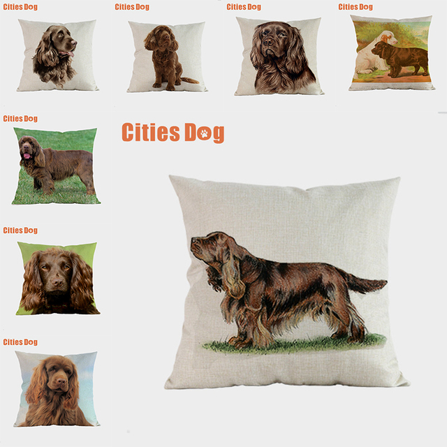 Sussex Hound dog pillow covers decorative cushion covers for sofa Pillows Animal dogs pillowcase cushions cover home decor