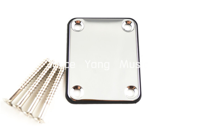 Niko Chrome Electric Guitar Neck Plate With 4 Screws For ST/TL Style Guitar/Electric Bass Guitar Free Shipping