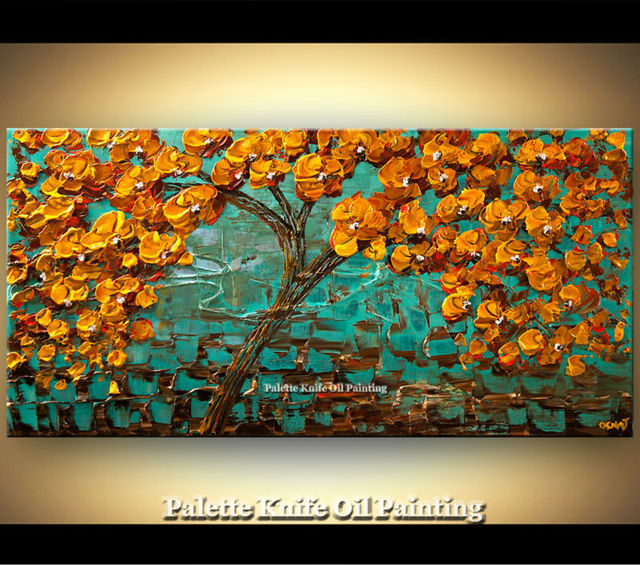 Hand painted Canvas Oil painting Wall Pictures for Living room wall decor art canvas painting palette knife landscape 055