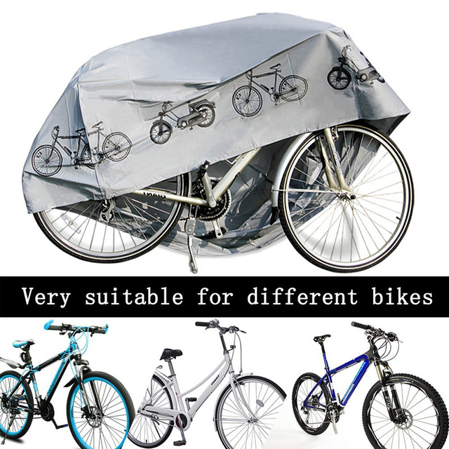 Motorbike Cover Shell Protector Guard Sturdy Rainproof Dustproof Motorcycle 210x110cm Gray Big Size Bicycle Electric Car