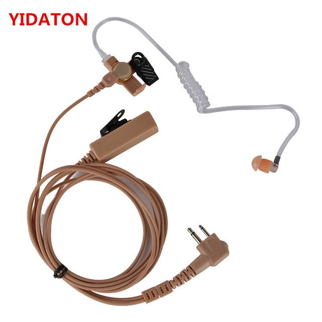 for Motorola GP88 GP300 Two way M-plug Air duct earpiece earphone headset with ptt for CP040, CP200, GP88 walkie talkie radio.