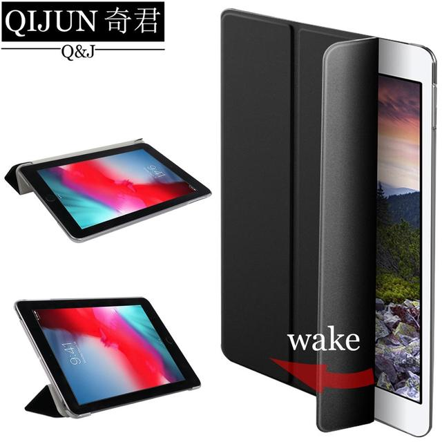 QIJUN tablet flip case for Samsung Galaxy Tab A 8.0 Smart wake UP Sleep leather fundas fold Stand cover bag capa for T350/T355