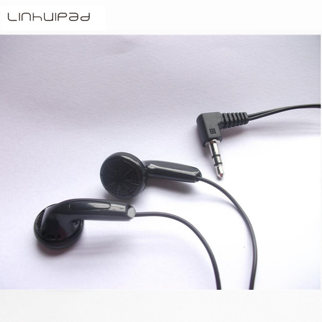 Linhuipad 50 pcs Cheap stereo In-ear earbuds black earphone for school library,gyms ,tourist bus