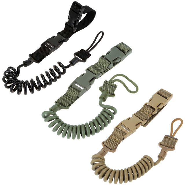 Tactical Two Point Rifle Sling Adjustable Bungee Tactical Airsoft Gun Strap System