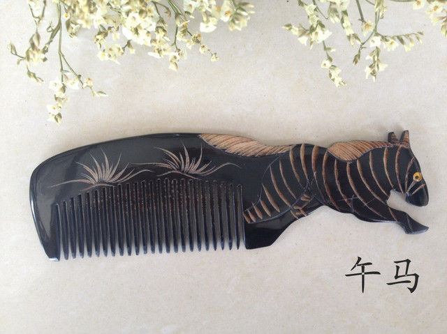 Chinese zodiac made of ox horn comb