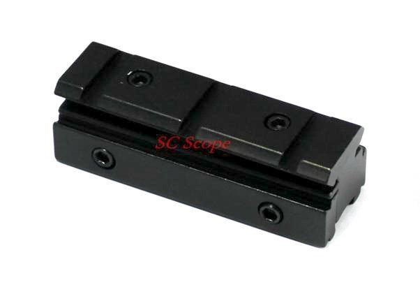 Scope 11mm Dovetail to 20mm Weaver Riser Rail Mount 11/20 Adapter Fit Winchester Airgun Mauser Marlin etc Airguns & Rifles