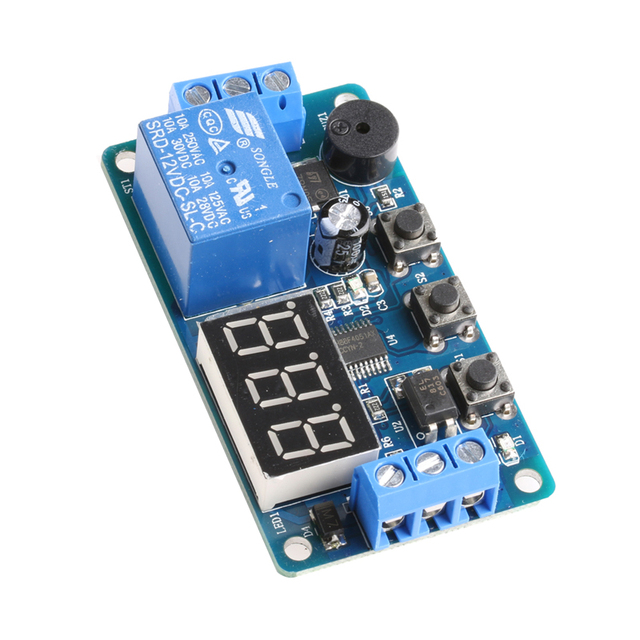 12V Module Delay Timer Relay Control Programmable Switch Car Buzzer LED Display Apr