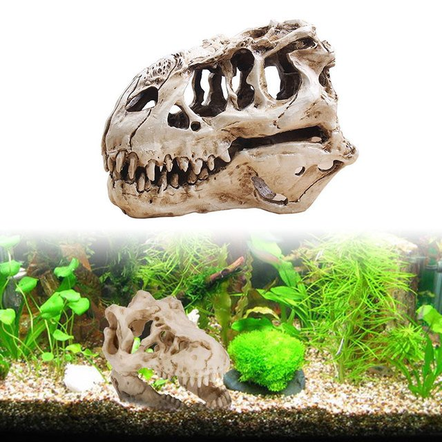 Resin Dinosaur T-Rex Skull Tyrannosaur Skull Lifelike Unique Collectibles Aquarium Decoration