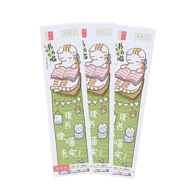 30Pcs/pack Lovely Cat In Book paper bookmark stationery bookmarks book holder school supplies