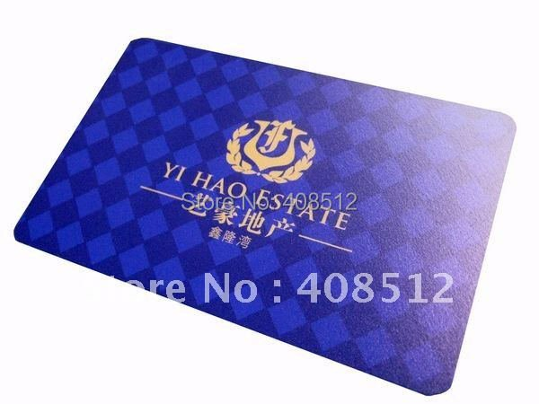 free shipping 0.38mm untransparent matte pvc business cards full color printed both sides